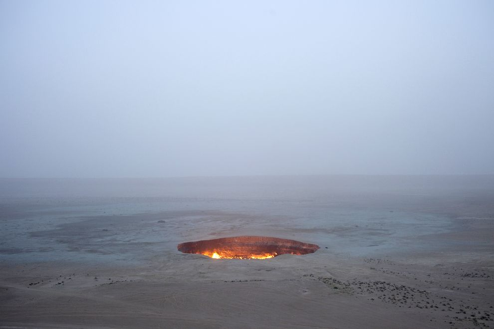 Turmenistan's Davaza Crater - ©CAROLYN DRAKE, PANOS