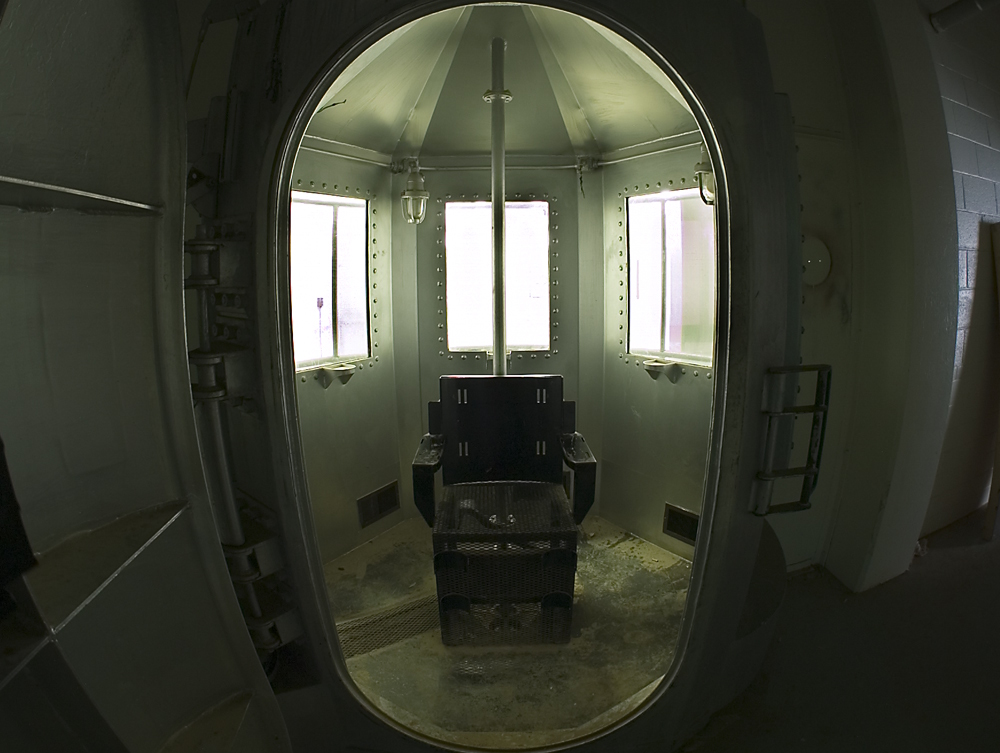 The Gas Chamber used for hydrogen cyanide poisoning punishment.