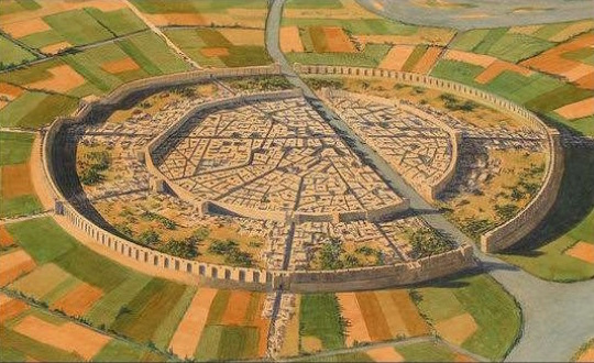 image of bronze age city illustration