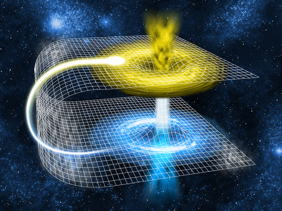 image of magnetic wormhole in space