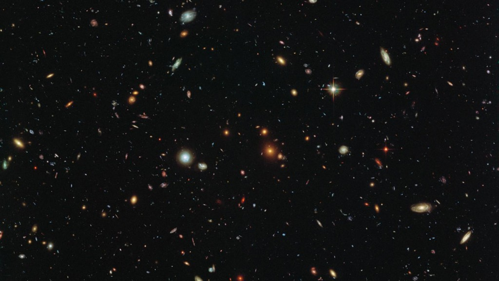 image of distant galaxies
